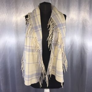 Banana Republic plaid fringe scarf